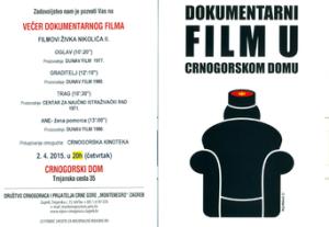 DOKUMENTARNI FILM U CRNOGORSKOM DOMU
