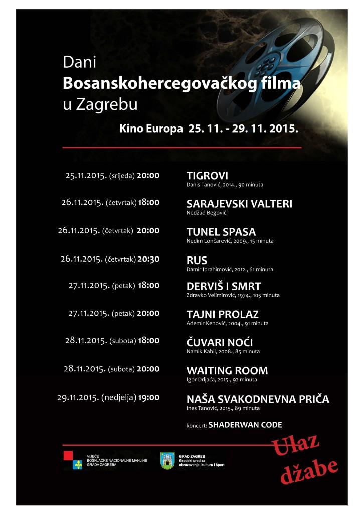 Program Dani BH filma u Zagrebu 2015